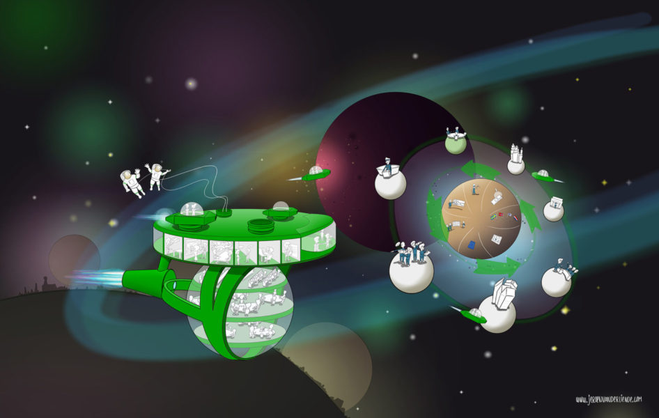 Illustration Space Ship Environment
